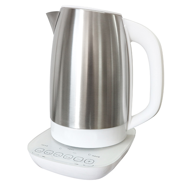 Electric Kettle 1.7L Electric Milk Modulator Stainless Steel Water Kettle Multy-Use Cordless Digital Kettle